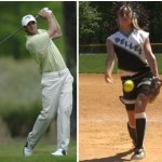 Pitch follow-through compared to golf swing