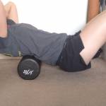 Back massage using foam roller