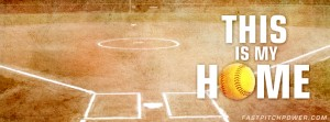 """This is my home"" softball field Facebook cover image"