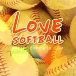 Free smartphone softball wallpaper